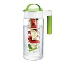 The borosilicate Multi Tasking Pitcher comes with a glass chiller, glass infuser and mesh tea infuser basket. artlandinc.com