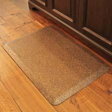 With all of the same attributes as the original WellnessMats line, the new Granite finish adds a decorative element ideal for the kitchen, garage, grill, work bench or man cave. Available in copper and steel colors. wellnessmats.com