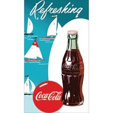 The company has partnered with Coca-Cola for a line of beach towels featuring iconic Coke designs. homesourceinternational.com