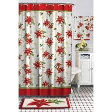 Part of the company's Lenox program, Winter Meadow is a shower curtain showcasing a floral bouquet in winter's traditional red and green. bardwil.com