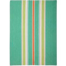 Made exclusively for Sur La Table, this green medium-striped kitchen towel is in a new color palette for spring. Made of cotton in India. surlatable.com