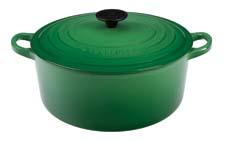 Le Creuset's classic 5.5-quart round French oven comes in a range of colors, including fennel. lecreuset.com