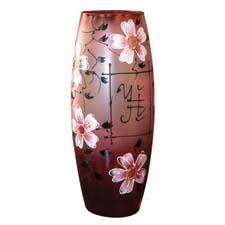Offering handpainted vases made in the Vladimir region of Russia, first-time exhibitor Crystal Güs will present Sakura, inspired by the Japanese cherry blossom. Sizes range from 10 to 16 inches tall. crystalgus.com