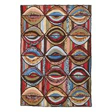 This new handhooked cotton rug design, Camp Stones Throw, is hand dyed for variegated coloring. Comes in a 2-by-3 size. michaelianhome.com