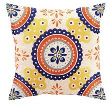 Montecito is an embroidered pillow made of 100 percent linen from Peking Handicraft. pkhc.com