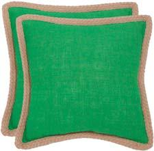Safavieh's Sweet Sonora decorative pillow is colored in emerald, Pantone's color of the year for 2013. safavieh.com