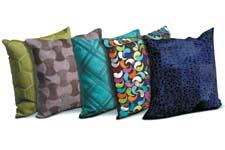 These pillows are from Nourison's Mina Victory Home Accents collection, a designer grouping inspired by modern lifestyles. nourison.com