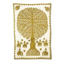 The Tree of Life wall hanging from Indika Imports is a cutwork applique made from a single piece of cloth. indikaimports.com