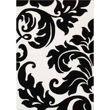 Horizon Home Imports has several black and white designs, including this hand washed, hand carved one made of New Zealand wool. horizonhomeimport.com