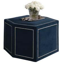 This ottoman from Drexel Heritage's Viage collection combines fashion and function. drexelheritage.com