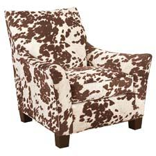 The trendy Hollis Chair features faux-hair. broyhillfurniture.com
