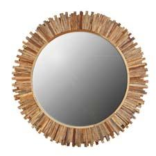 The Flat Teak Starburst mirror will be one of the High Point introductions from Ibolili, which offers handmade furniture, natural fiber lighting and more from around the world. ibolili.com