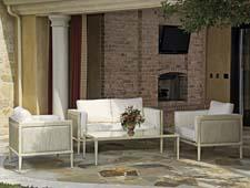 The Chatham Outdoor Collection is available in over 200 cushion fabrics and in deep seating, dining and custom-sized pieces. terrafurniture.com