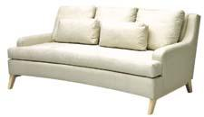 The Amalfi Sofa gives a nod to '60s styling and is available in more than 800 fabrics and 24 wood finishes. norwalkfurniture.com