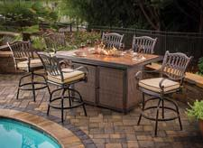 Agio added a tall dining fire table with a strip burner feature to its Balmoral Collection, which reflects the style of an English Garden. An adjustable gas flame serves as the center of attention, giving consumers an opportunity to entertain longer into the evening. agio-usa.com