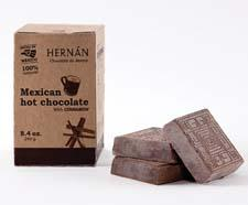 Mexican kitchenware company Hernán now offers food products as well, such as Mexican hot chocolate tablillas/squares, which have an intense cocoa flavor and gritty texture. hernanllc.com