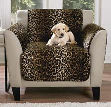 The Casual Cover collection of slipcovers includes this leopard pattern. surefit.net
