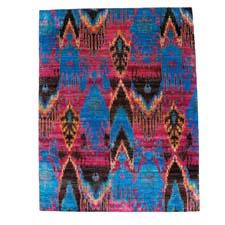 F.J. Kashanian's new ikat designs in its Sari Silk collection and made of 100 percent sari silk. fjkashanian.com