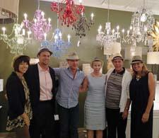 AF Lighting's employees donned fedoras in honor of its new, chapeau-wearing designer, Angelo Surmelis. From left, Deborah Benz, Marty Daley, Surmelis, Karen Fallon, Paul Spano and Mary Beth York.