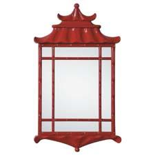 Renowned interior designer Bunny Williams recently debuted her mirror collection for Mirror Image Home, which includes the bright and fun Pagoda design, finished in red lacquer. mirrorimagehome.com
