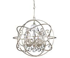 Crystorama adds to its Solaris line at market, incorporating chandeliers within the spheres of Solaris for an elegant look. Three new finishes, including white, have also been added. crystorama.com