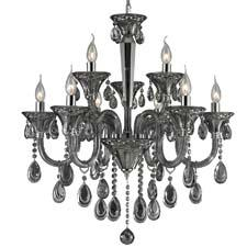 Nulco lighting will show the Formont collection, which includes this nine-light chandelier with smoke-plated crystal and polished chrome finish. nulcolighting.com