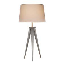 A take-off from Adesso's black director lamps, the Tripod collection includes a 29-inch table lamp, shown, and a 63-inch floor lamp.  adessohome.com