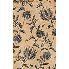 The new design 4576 Ivory/Blue Wildflowers is in the handtufted Florence collection and is also available in a silver coloration. kasrugs.com