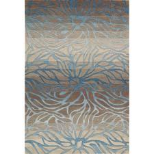Nourison has added two new designs, Smoke Teal and, here, Ocean Sand, to its Contour collection. The handtufted collection is made of polyester in China. nourison.com