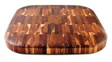 This reversible end-grain walnut butcher block cutting board is new from the Canadian husband-wife team of OnOurTable. onourtable.ca