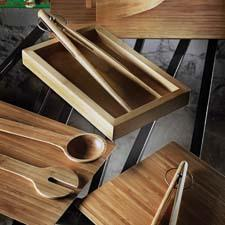 The Bamboo collection reinvents some of Design House Stockholm's existing products—including its whale tongs, chopping boards and serving mats—in laminated bamboo. designhousestockholmusa.com