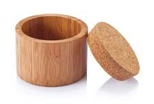 A new series of kitchen and bath containers is made of bamboo with a cork lid. bambuhome.com