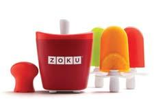 The Zoku Single Quick Pop Maker freezes pops in as little as seven minutes on the countertop without electricity. zokuhome.com