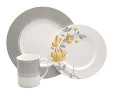 Nikko's newest fine bone china pattern Fanciful Yellow retails for $60 for a four-piece place setting and also comes in blue. It's on display at Forty One Madison. nikkoceramics.com