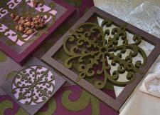 The Sejjadeh Rosace collection of trivets, coasters, chargers and other items are reminiscent of the terrazzo tiles of Mediterranean residences of the 1930s and 1940s. eusamex.com