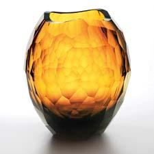 Artel's Glacier collection, recently acquired by the Corning Museum of Glass, has expanded with two new shapes, including this large vase. artelglass.com