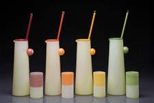 Wrap pitchers with stir sticks and tall Wrap cups are new from Two-Tone Studios. twotonestudios.com