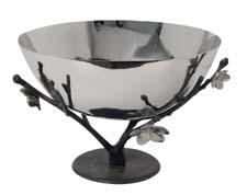 Stainless-steel sakura bonsai bowls offer an elegant representation of flowering cherry blossom branches; the bonsai represents life, love and celebrations. muditamull.com