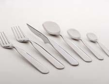 New Vidal 18/10 stainless flatware was designed by European industrial designer and architect Elisabeth Vidal and made by Bugatti in Italy. vietri.com