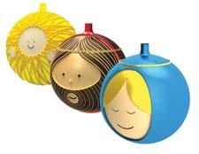 This series of Christmas ornaments, including the Holy Family shown here as well as other Nativity characters, features the playful Alessi aesthetic. alessi.com