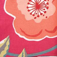 Poppies is a set of accent napkins in bright colors and bold patterns with pops of metallics. vietri.com