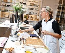 Chef Gabrielle Hamilton of New York's Prune restaurant was one of the first chefs to work in the kitchen.