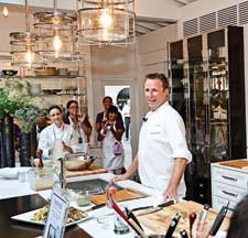 Chef Marc Murphy of Landmarc was on hand to unveil the kitchen and cook for the crowd.