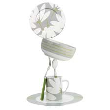 The Fan Floral collection from Echo Design offers a white and gray floral with a contemporary graphic twist and a lime accent. echodesign.com