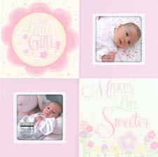 Malden offers its Our Little Girl two-opening collage frame in a high-gloss finish. malden.com