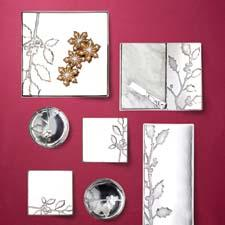 Sleek lines and inverse molding lend Arthur Court's Holly collection an artistic, photo-negative look. arthurcourt.com