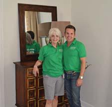 Sharon Davis of ART and Dann Foley of Dann Inc. in one of the completed rooms.