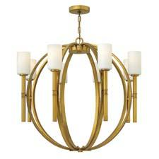 Traditional and formal, Hinkley Lighting's Margeaux (#3588VS) is part of a combination stem-and-chain-hung collection and features cast transition elements that extend from the body to the torchère arms. hinkleylighting.com