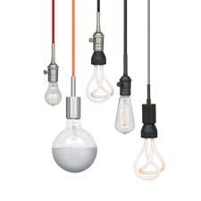 Tech Lighting's new SoCo system of sockets and cords offers seven color cord options, three standard lengths, two socket alternatives (vintage or modern) and four metal finishes to mix and match. techlighting.com