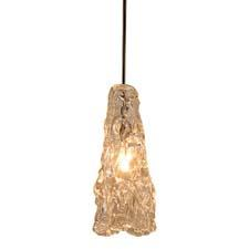 A new item in WAC Lighting's Quick Connect pendant line, Ice is handcrafted of clear mouth blown glass from Italy. Quick Connect pendants can be used with WAC's rail and track lighting systems. waclighting.com